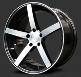 Advance Wheels AV1.0 Black Polished